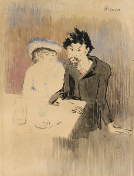 Pablo Picasso 1901 The Poet Cornuty