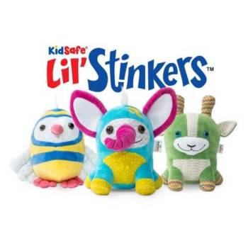 Lil' Stinkers KidSafe Set of 3 Aroma Plush (Coco, Otis & PJ) + Signature Blends