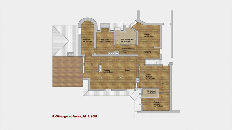 M11 - Umbau und Zusammenlegung von 2 DG-Wohnungen