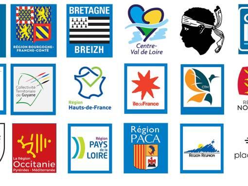 Logo région pour plaque dimmatriculation