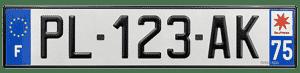 plaque immatriculation pour voiture