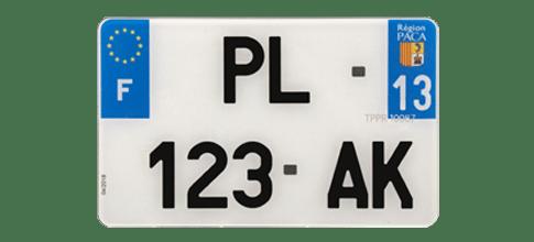 Plaque Moto Plexiglas