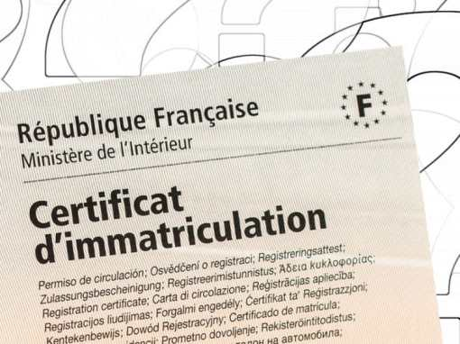 Comprendre les rubriques du certificat d'immatriculation