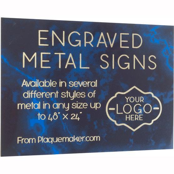 laser engraved metal signs