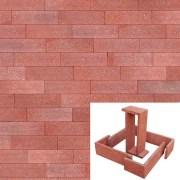 Plaqueta Semimanual Roja Arenosa 22×6,5x1cm Refrentada 1