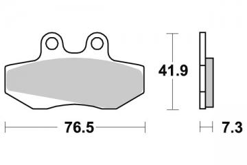 plaquette moto pour gas gas ec 50 rookie /sm 2001