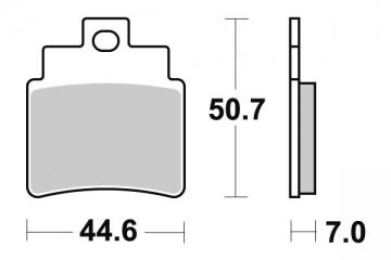 plaquette quad pour arctic cat 366 (4x4) 366 auto 2009