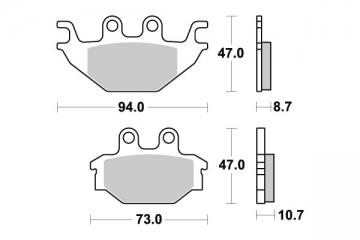 plaquette quad pour tgb blade 425 4x4 2009