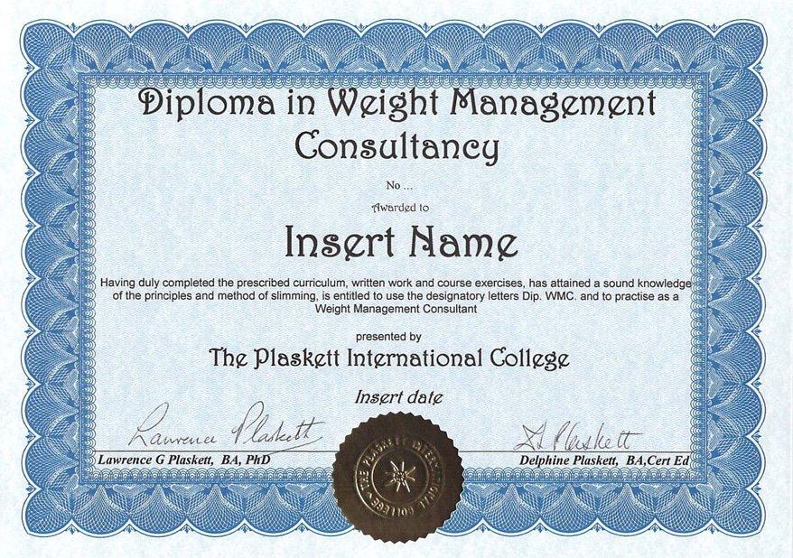 Weight Management Consultancy Plaskett College