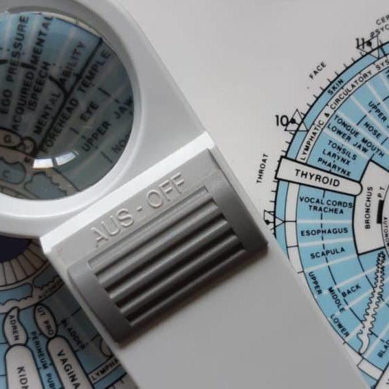 iridology-chart and scope