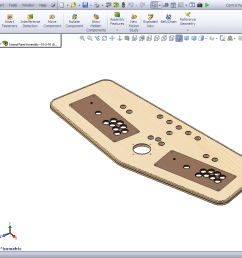 portable mame control panel solidworks progress 10 4 10 [ 1280 x 798 Pixel ]