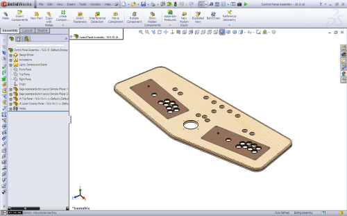 small resolution of portable mame control panel solidworks progress 10 4 10