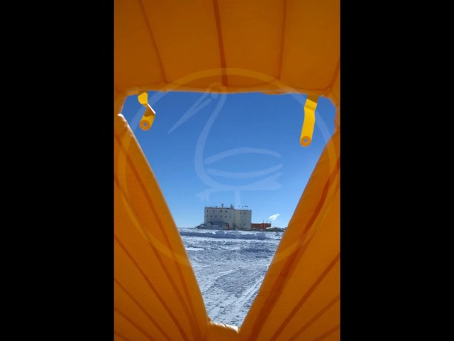 self-supporting pneumatic tent Antarctic Concordia Italo-French research station