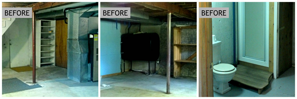 Basement Before Images - Plaster & Disaster