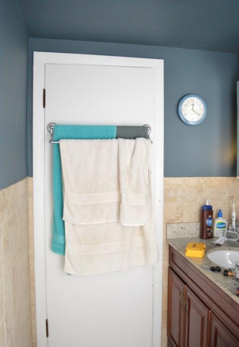 Messy towel bar -- Plaster & Disaster