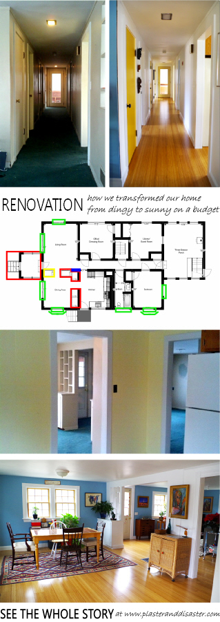 Renovation - transforming from dingy to sunny on a budget - Plaster & Disaster