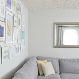 Living room gallery wall -- Plaster & Disaster
