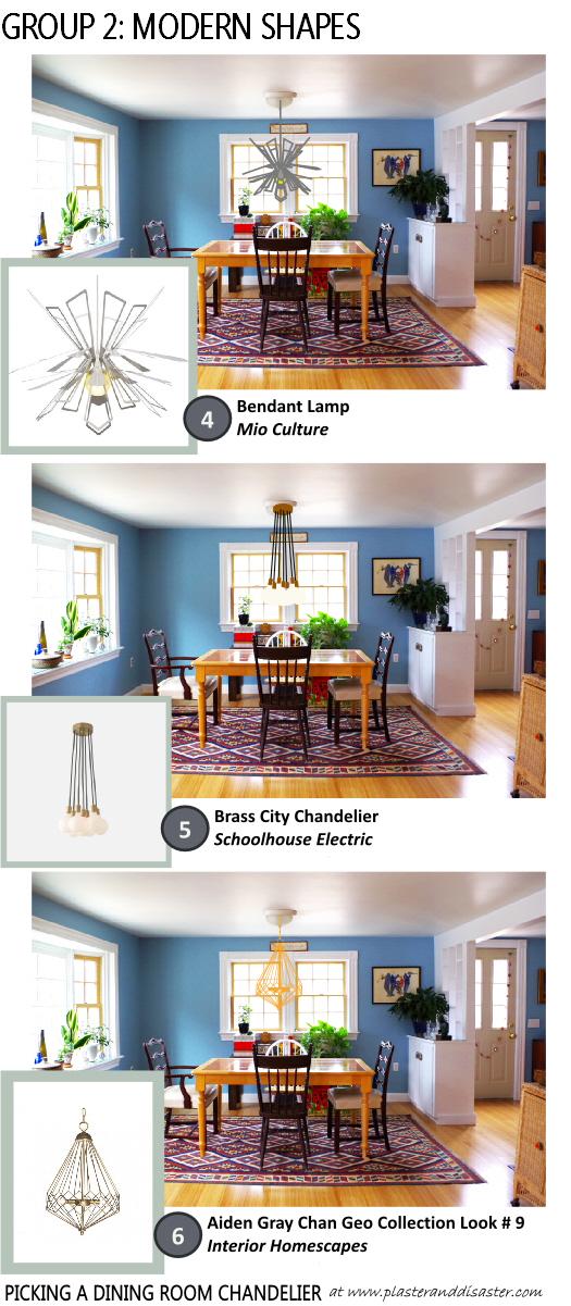 Picking a Dining Room Chandelier - Modern Shapes - Plaster & Disaster