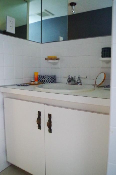 Advice for a sad bathroom vanity - vanity before - Plaster & Disaster