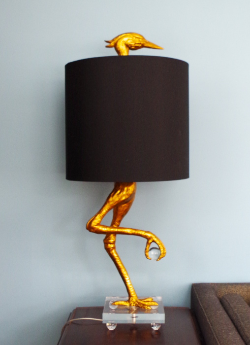 Lampshade Decorating - Pair a decorative base with a simple shade - Plaster & Disaster
