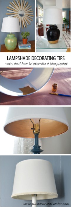 Lampshade Decorating Tips - Plaster & Disaster