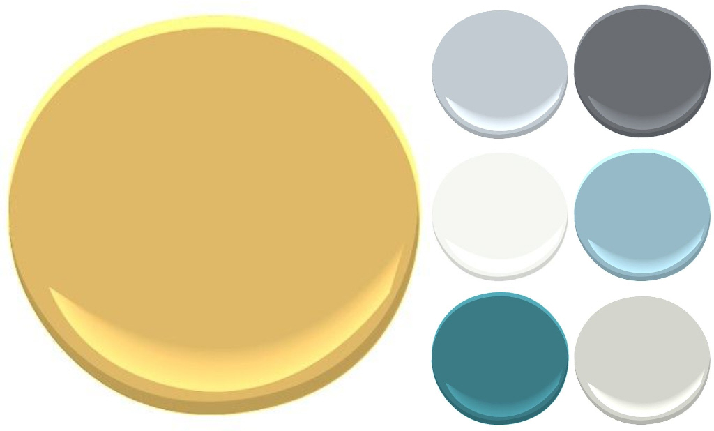 Painting Doors and Hardware - Benjamin Moore's Yellowstone, along with the rest of our house's color pallete - Plaster & Disaster