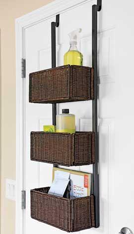 Bathroom door storage -- Plaster & Disaster