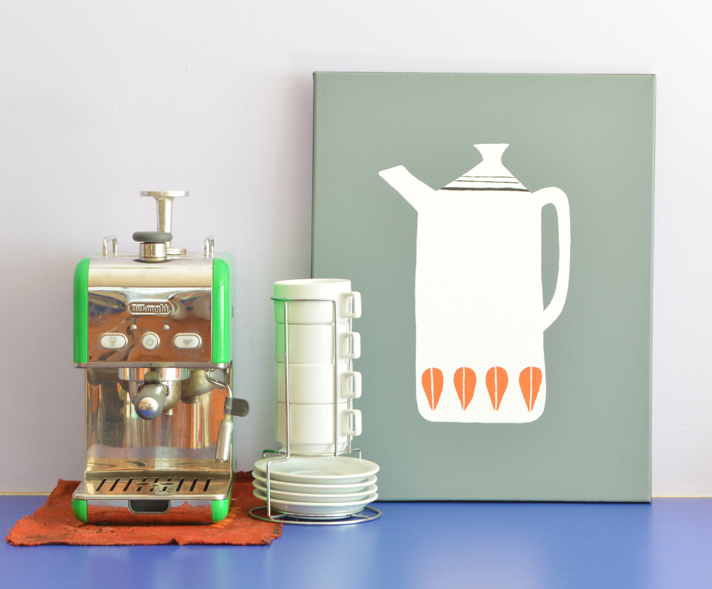 Paint your own mid century-inspired kitchen art -- Plaster & Disaster