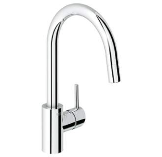 Grohe Starlight Chrome Concetto Single Handle from Faucet.com - Plaster & Disaster