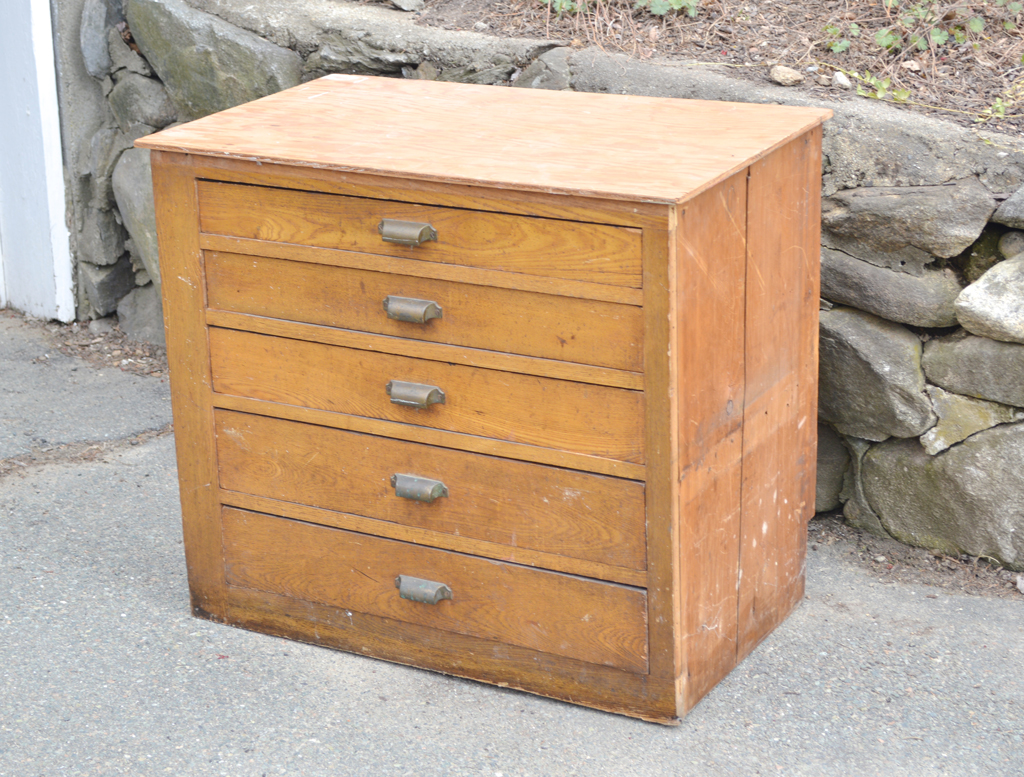 Salvaged chest of drawers -- Plaster & Disaster