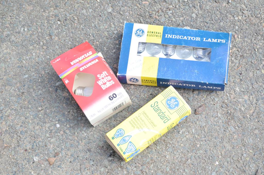 Salvaged light bulbs -- Plaster & Disaster