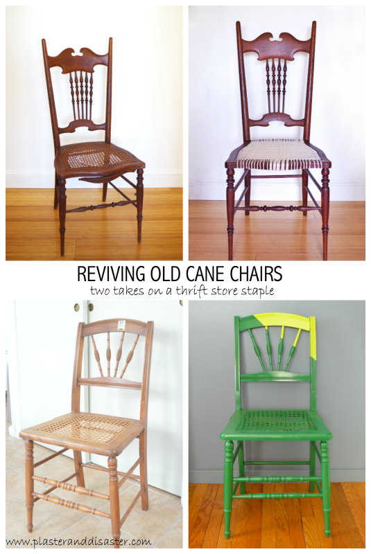 making over thrift store cane chairs plaster u0026 disaster