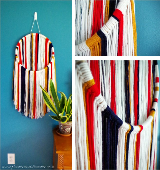 Circular Yarn Wall Hanging DIY - Plaster & Disaster