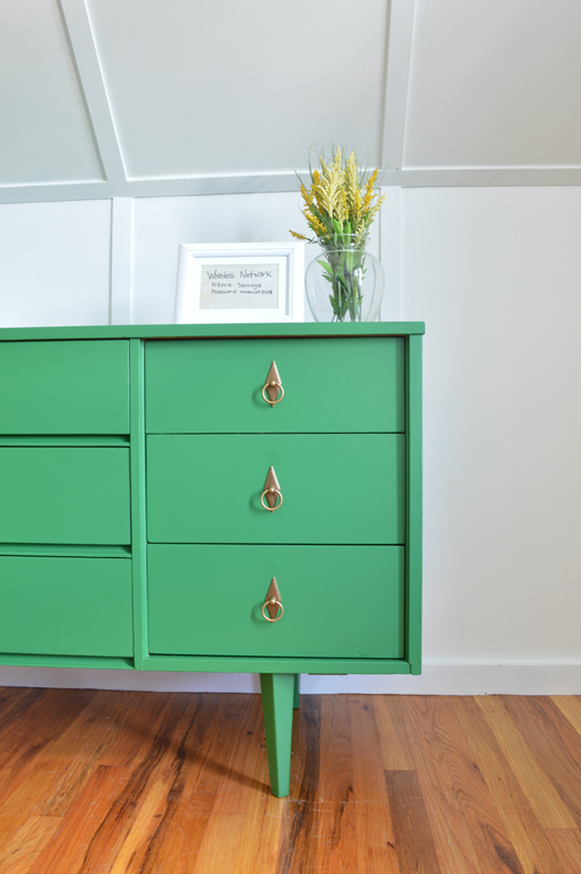 Emerald green dresser -- Plaster & Disaster