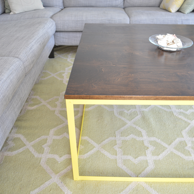 DIY Metal Modern Coffee Table    Plaster U0026 Disaster