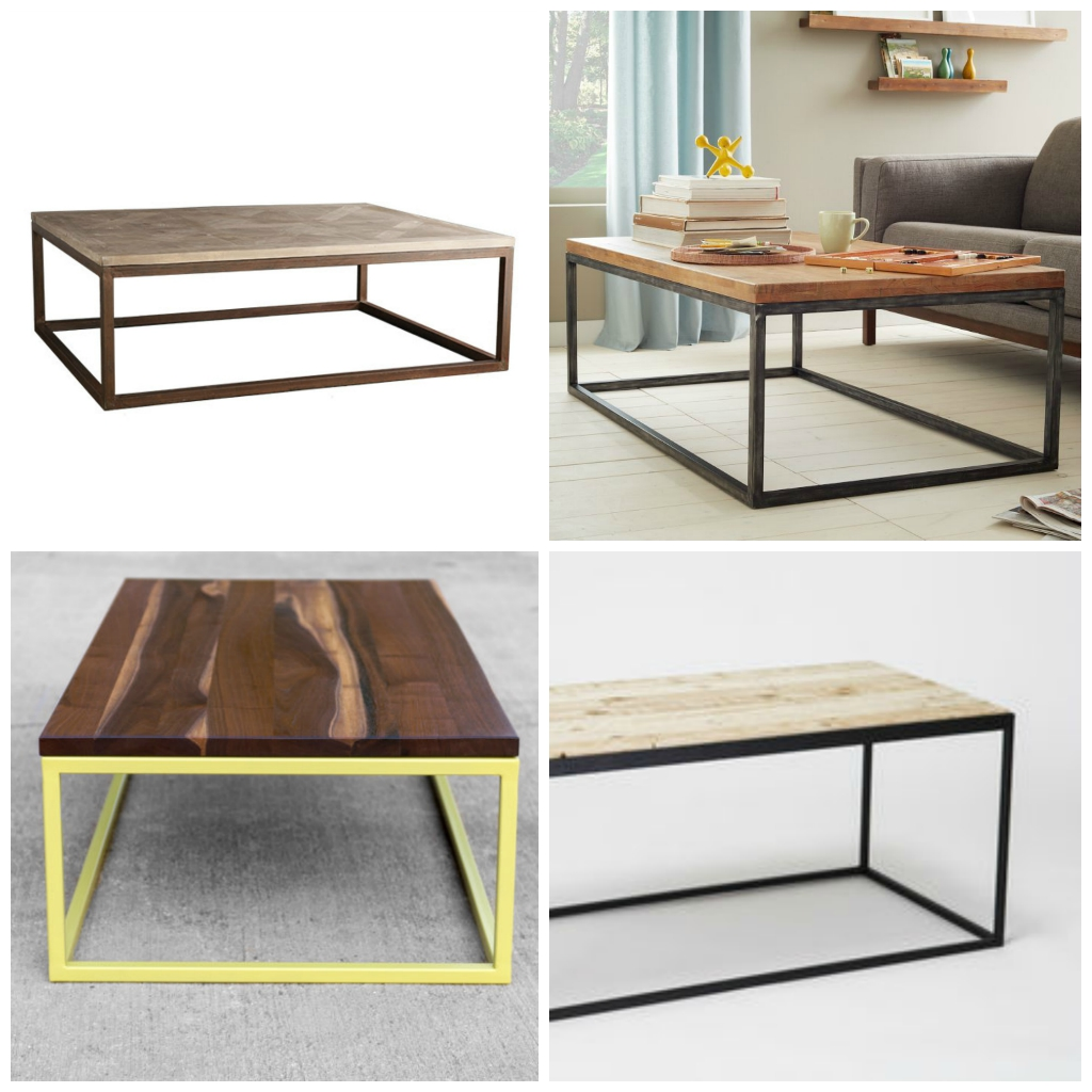 metal industrial coffee tables plaster disaster - Metal Frame Coffee Table