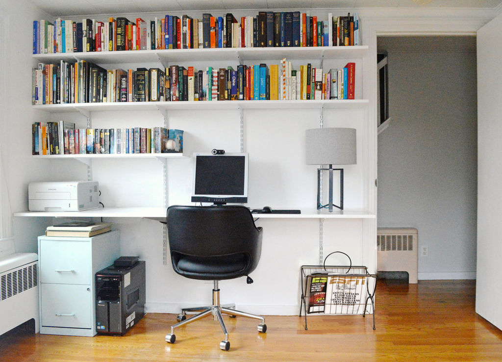 half circle bookcase progress in the study and how to build a hanging shelving and
