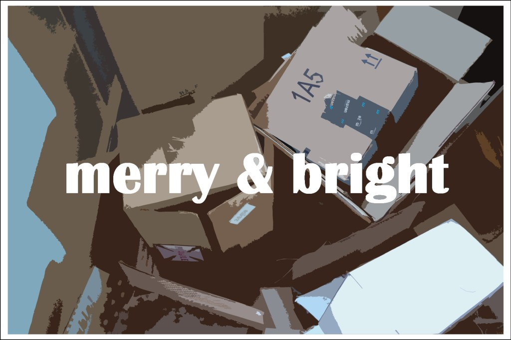 Merry & Bright - a free holiday printable from Plaster & Disaster