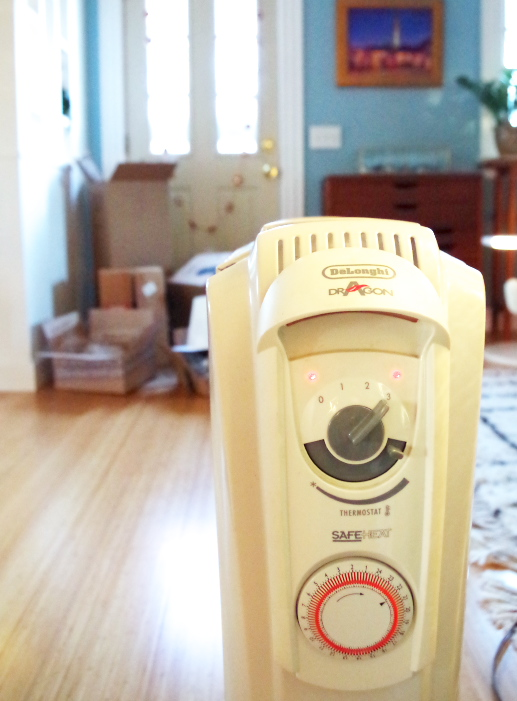 Real Holiday Home Tour - The warm glow of a space heater - Plaster & Disaster