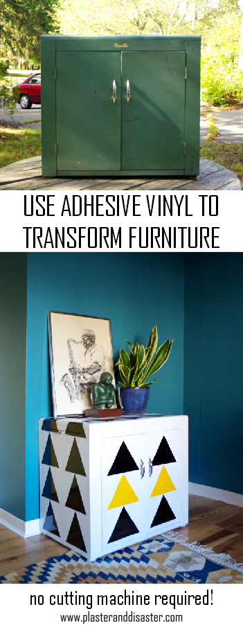 Use adhesive vinyl to transform furniture the easy way - Plaster & Disaster