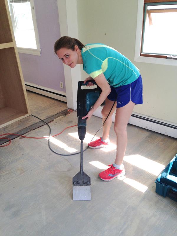 Tearing up tile floor -- Plaster & Disaster