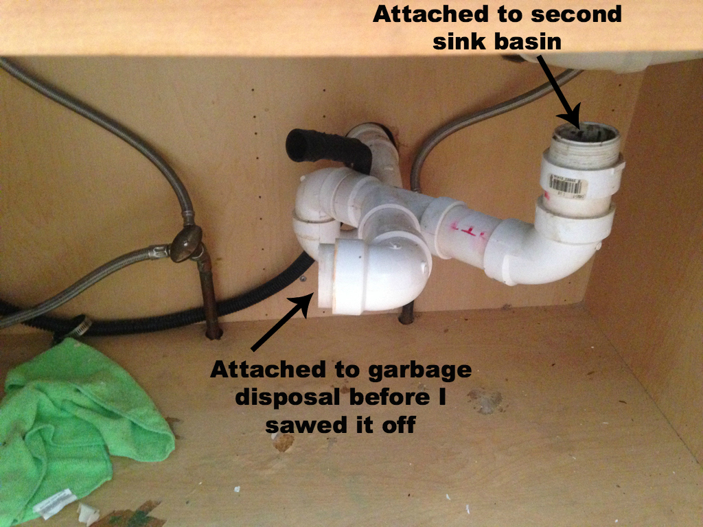 Bye Blue Plaster Disaster Wiring A Garbage Disposal And Dishwasher Electrical Share The Installing Sink