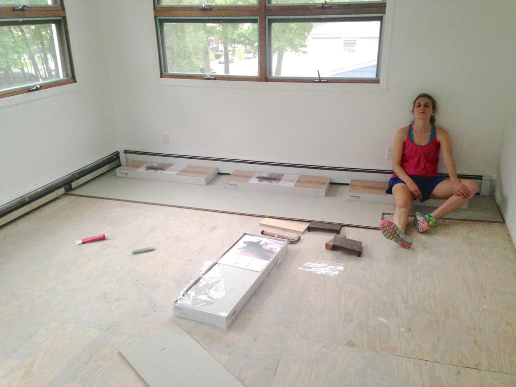 Installing flooring -- Plaster & Disaster