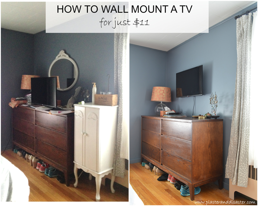 Wall mounting a TV -- Plaster & Disaster