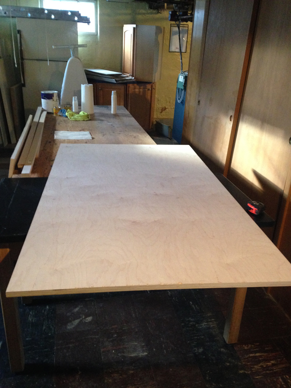 Hairpin Leg Dining Table Diy Table Made From Plywood And Hairpin