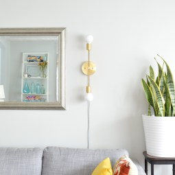 DIY midcentury sconce -- Plaster & Disaster