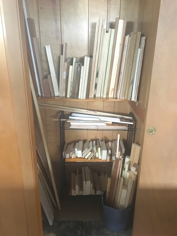 Organizing scrap wood -- Plaster & Disaster