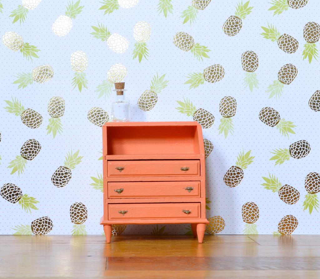 Dollhouse midcentury dresser -- Plaster & Disaster