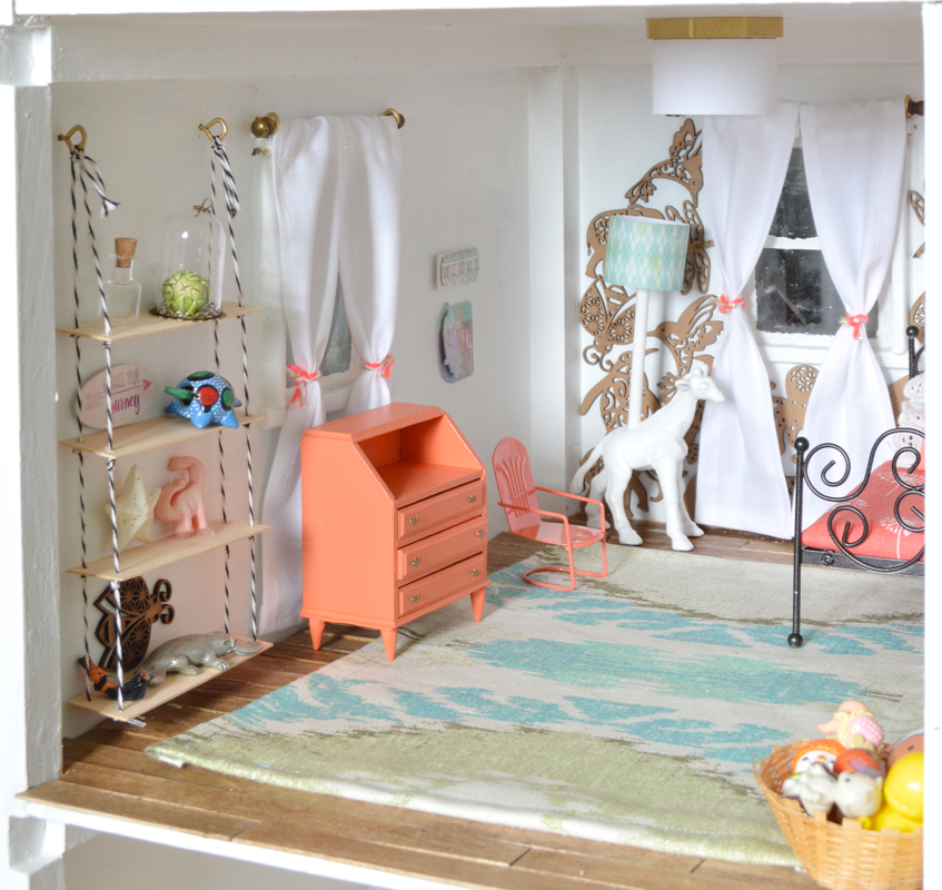 Little girl dollhouse room -- Plaster & Disaster