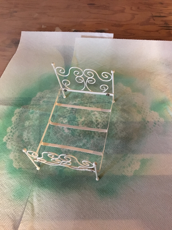 Dollhouse bed -- Plaster & Disaster
